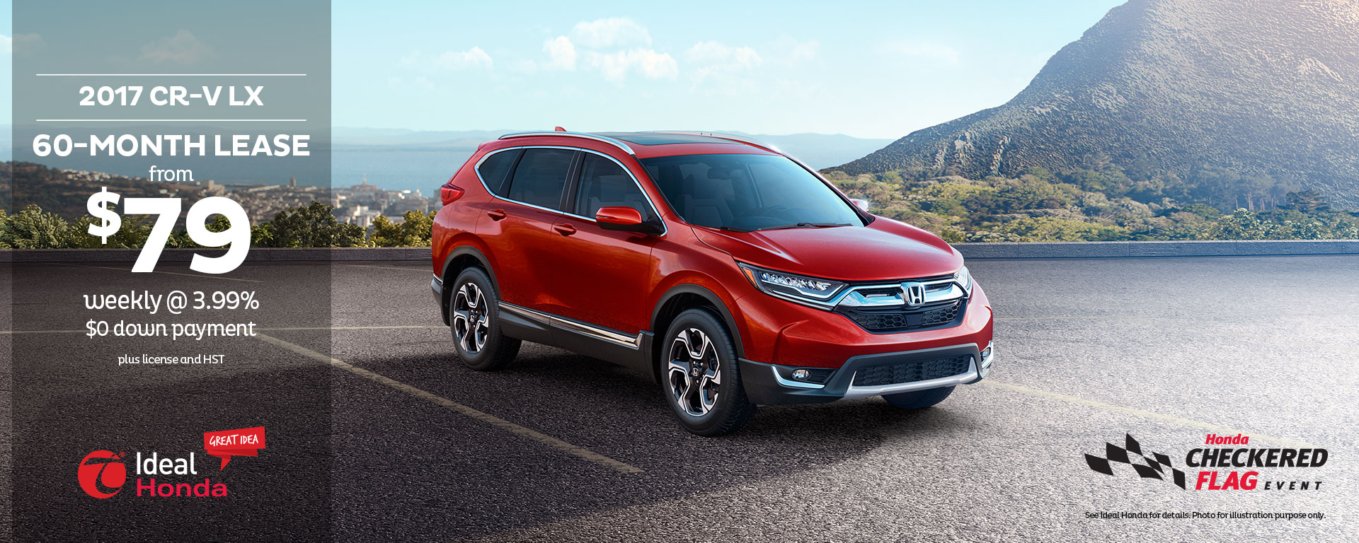 2017 CR-V LX 60 Month Lease from $79