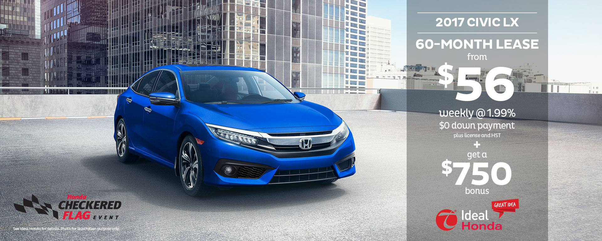 2017 Civic LX 60 Month Lease