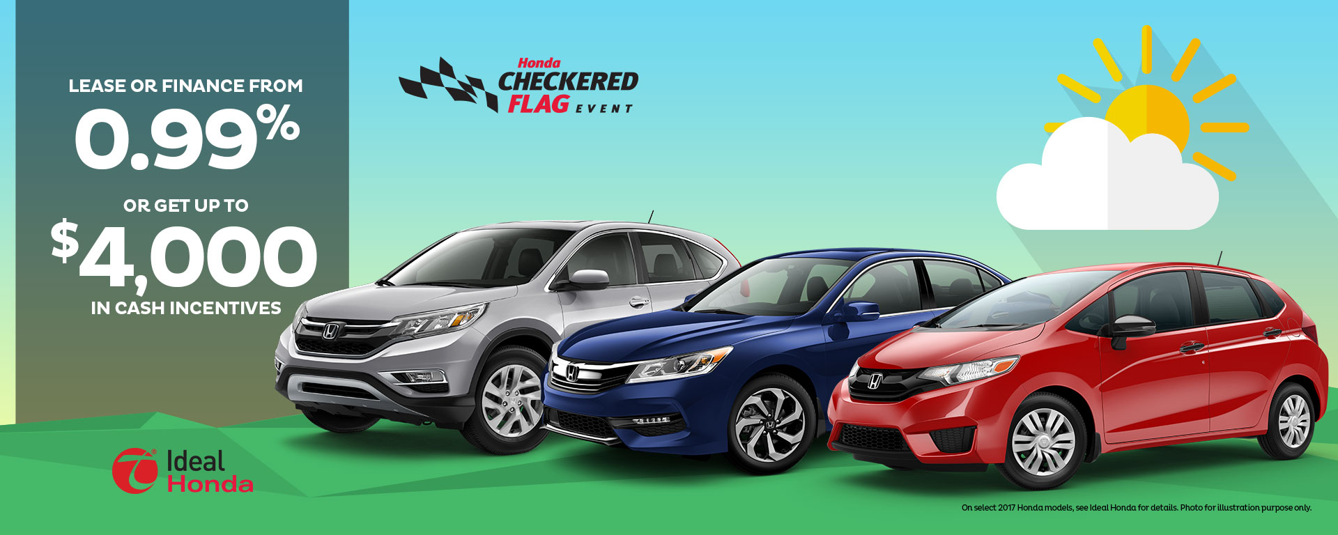 Lease or finance from 0.99% or get up to $4000 in cash incentives