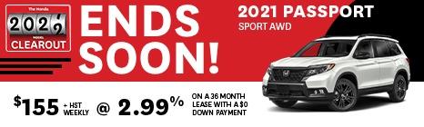 2021 PASSPORT SPORT AWD